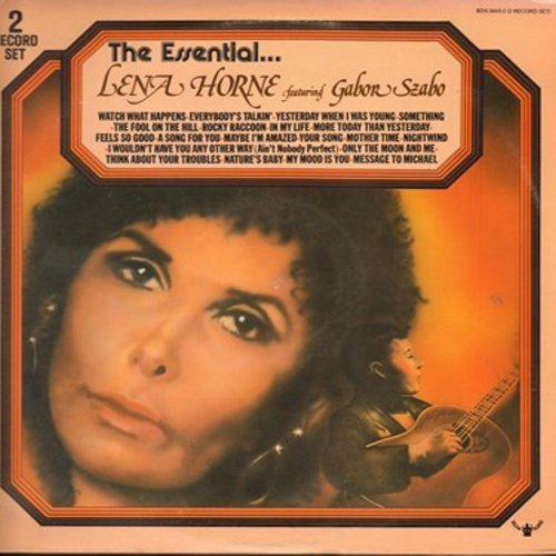 Horne, Lena - The Essential Lena Horne: Everybody's Talkin', Something, In My Life, Message To Michael, Yesterday When I Was Young (2 vinyl STEREO LP record set, gate-fold cover) - NM9/NM9 - LP Records