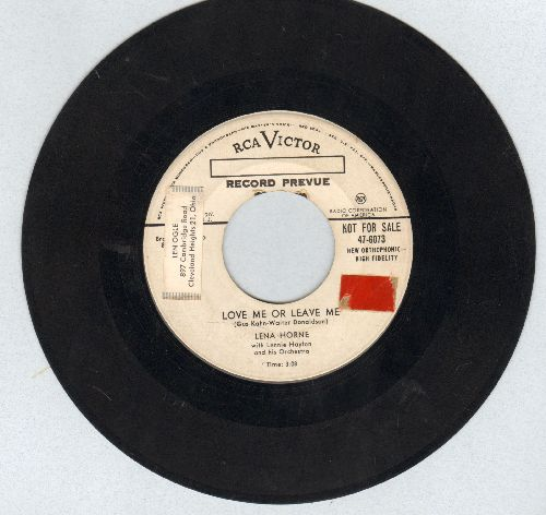 Horne, Lena - Love Me Or Leave Me/I Love To Love (DJ advance pressing) (sol) - VG6/ - 45 rpm Records