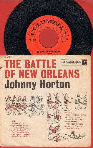Horton, Johnny - The Battle Of New Orleans/All For The Love Of A Girl (with picture sleeve, song lyrics on sleeve) - EX8/VG7 - 45 rpm Records