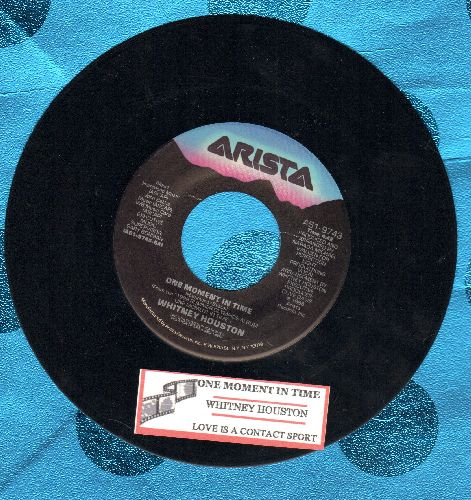 Houston, Whitney - One Moment In Time/Love Is A Contact Sport (with juke box label) - EX8/ - 45 rpm Records