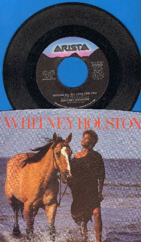 Houston, Whitney - Saving All My Love For You/All At Once (with picture sleeve) - NM9/EX8 - 45 rpm Records