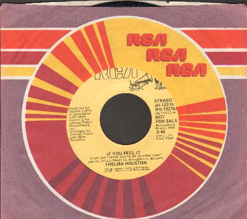 Houston, Thelma - If You feel It (double-A-sided DJ advance pressing with MONO and STEREO version, with RCA company sleeve) - NM9/ - 45 rpm Records