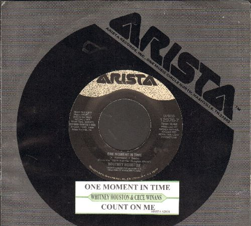 Houston, Whitney & Cece Winans - One Moment In Time/Count On Me (with juke box label and Arista company sleeve) - EX8/ - 45 rpm Records