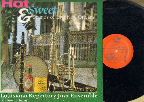 Louisiana Repertory Jazz Ensemble - Hot & Sweet Sounds Of New Orleans: Brush Stomp, Black Bottom Stomp, Sweet Lorraine (vinyl LP record) - EX8/EX8 - LP Records