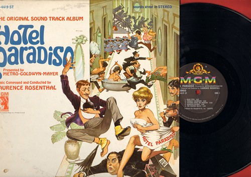 Hotel Paradiso - Hotel Paradiso - Original Sound Track Album, music composed and conducted by Laurence Rosenthal (Vinyl STEREO LP record) - M10/VG7 - LP Records