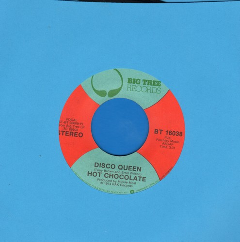 Hot Chocolate - Disco Queen/Makin' Music - NM9/ - 45 rpm Records