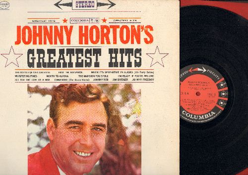 Horton, Johnny - Greatest Hits: Battle Of New Orleans, Sink The Bismarck, North To Alaska, Johnny Freedom, Comanche (STEREO) - EX8/EX8 - LP Records