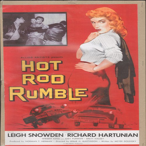 Hot Rod Rumble - Movie Poster - Hot Rod Rumble - Full Color 16 x 10.5 inch reproduced Movie Poster of the 1950s Cult Film - GREAT for framing!  - NM9/ - Poster