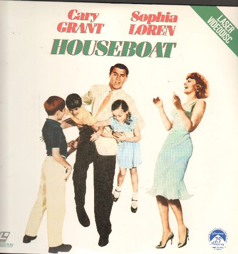 Houseboat - Houseboat - LASER DISC version of the Classic Romantic Comedy starring Cary Grant and Sophia Loren (This is a LASER DISC, NOT any other kind of media!) - NM9/NM9 - LaserDiscs
