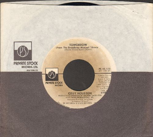 Houston, Cissy - Towmorrow (from -Annie-)/Love's Holding On (with RARE Private Stock company sleeve) - NM9/ - 45 rpm Records