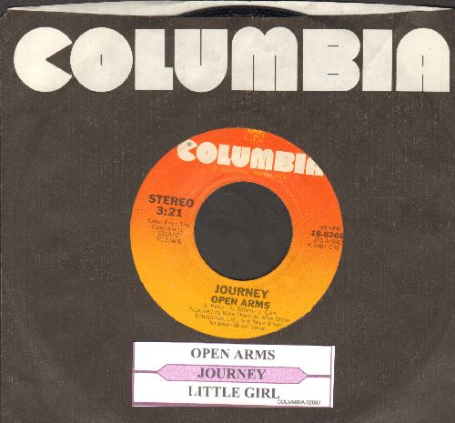 Journey - Open Arms/Little Girl (with juke box label and Columbia company sleeve) - NM9/ - 45 rpm Records