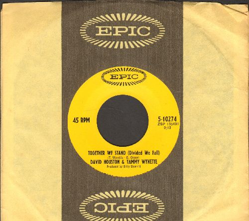 Houston, David & Tammy Wynette - Together We Stand (Divided We Fall)/It's All Over (with Epic company sleeve) - NM9/ - 45 rpm Records