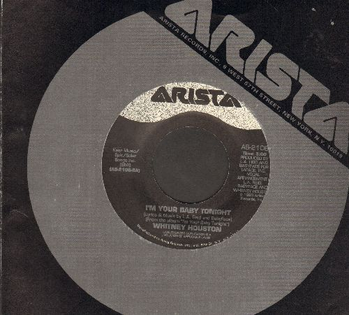 Houston, Whitney - I'm Your Baby Tonight/I'm Knockin' (with Arista company sleeve) - VG7/ - 45 rpm Records