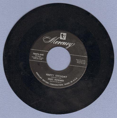 Howard, Eddy - Happy Birthday/Anniversary Waltz  - EX8/ - 45 rpm Records