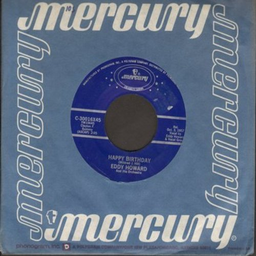 Howard, Eddy - Happy Birthday/Anniversary Waltz (re-issue with juke box label) - NM9/ - 45 rpm Records
