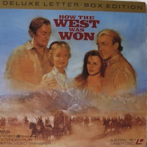 How The West Was Won - How The West Was Won -  The MGM Epic Western on 2 Laser Discs  in Letter-Box Format (This is a LASER DISC set, not any other kind of media!) - NM9/EX8 - Laser Discs