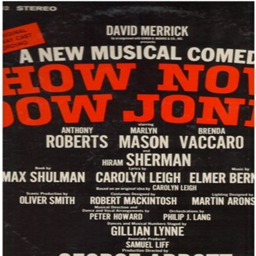How Now, Dow Jones - How Now, Dow Jones - Original Broadway Cast Recordig, starring Anthony Roberts, Marlyn Mason, Brenda Vaccaro and Hiram Sherman (Vinyl STEREO LP record, DJ advance pressing) - M10/EX8 - LP Records