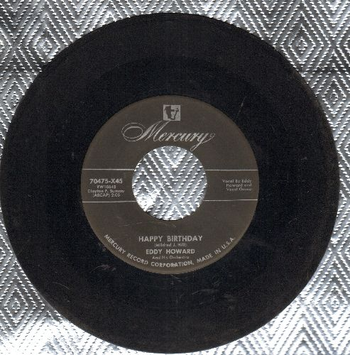 Howard, Eddy - Happy Birthday/Anniversary Waltz  - VG7/ - 45 rpm Records