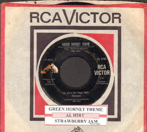 Hirt, Al - Green Hornet/Strawberry Jam (with vintage RCA company sleeve) - EX8/ - 45 rpm Records