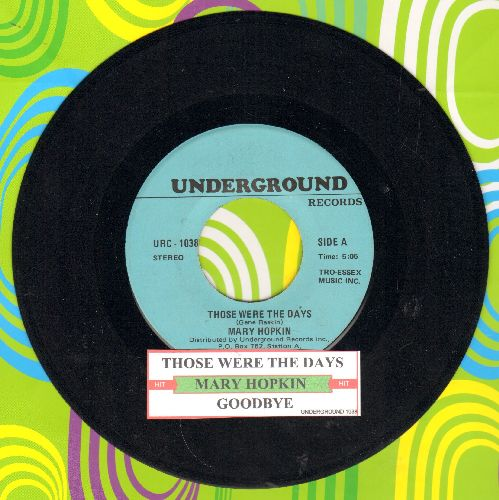 Hopkin, Mary - Those Were The Days/Goodbye (double-hit re-issue with juke box label) - NM9/ - 45 rpm Records