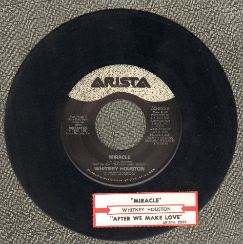 Houston, Whitney - Miracle/After we Make Love (with juke box label) - EX8/ - 45 rpm Records