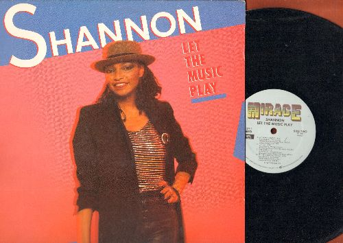 Shannon - Let The Music Play: Give Me Tonight, My Heart's Divided, One Man, It's You (vinyl STEREO LP record) - EX8/EX8 - Maxi Singles