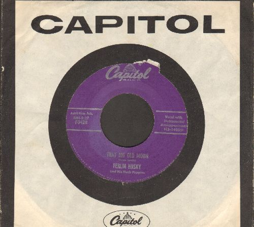 Husky, Ferlin - That Big Old Moon/Aladdin's Lamp (1956 first pressing with vintage Capitol company sleeve) - EX8/ - 45 rpm Records