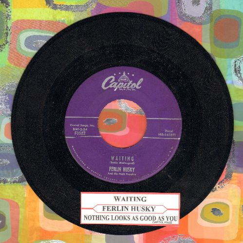 Husky, Ferlin - Waiting/Nothing Looks As Good As You (with juke box label) - EX8/ - 45 rpm Records