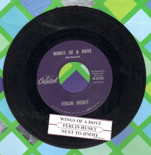 Husky, Ferlin - Wings Of A Dove/Next To Jimmy (with juke box label) - VG7/ - 45 rpm Records