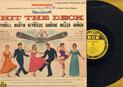 Powell, Jane, Vic Damone, Debbie Reynolds, Ann Miller, others - Hit The Deck: Original Motion Picture Sound Track (vinyl MONO LP record, yellow label 1955 first pressing) - NM9/EX8 - LP Records