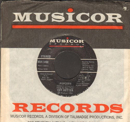 Hot Butter - Popcorn/At The Movies (with Musicor company sleeve) - EX8/ - 45 rpm Records