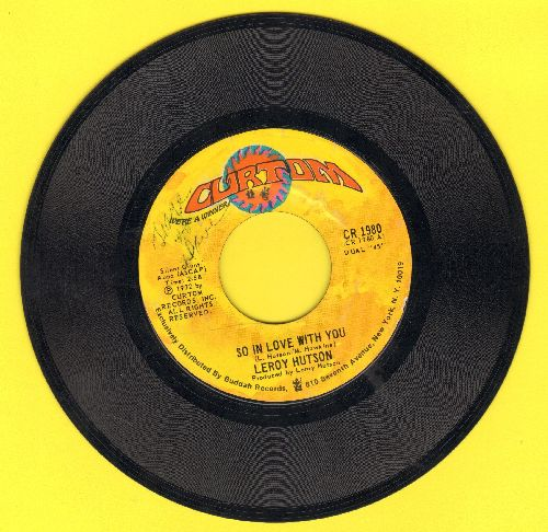 Hutson, Leroy - So In Love With You/As Long As There's Love Around (RARE Soul 2-sider!) - EX8/ - 45 rpm Records