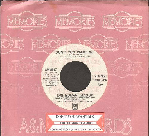 Human League - Don't You Want Me/Love Action (double-hit re-issue with juke box label and company sleeve) - NM9/ - 45 rpm Records