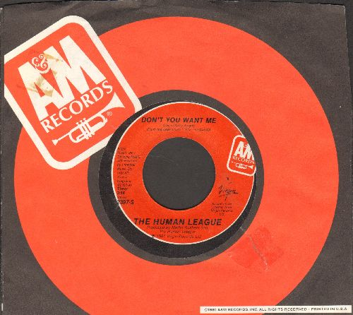 Human League - Don't You Want Me/Seconds (with A&M company sleeve) - NM9/ - 45 rpm Records