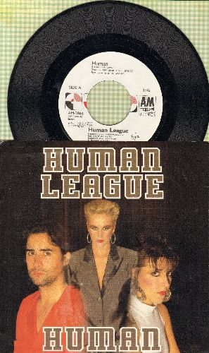 Human League - Human/Human (Instrumental) (with picture sleeve) - NM9/EX8 - 45 rpm Records