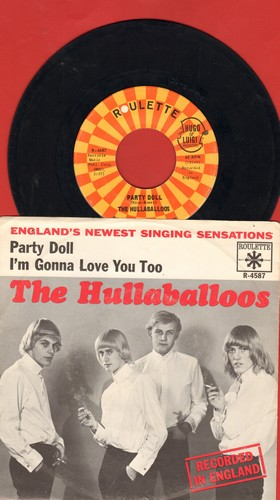 Hullaballoos - Party Doll/I'm Gonna Love You Too (with picture sleeve) - NM9/EX8 - 45 rpm Records