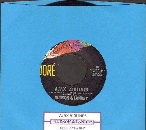 Hudson & Landry - Ajax Airlines/Bruiser La Rue (with juke box label) - NM9/ - 45 rpm Records