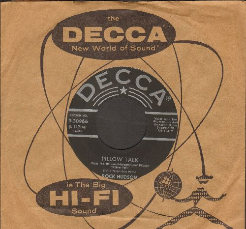 Hudson, Rock - Pillow Talk/Roly Poly (MINT condition with vintage Decca company sleeve) - M10/ - 45 rpm Records