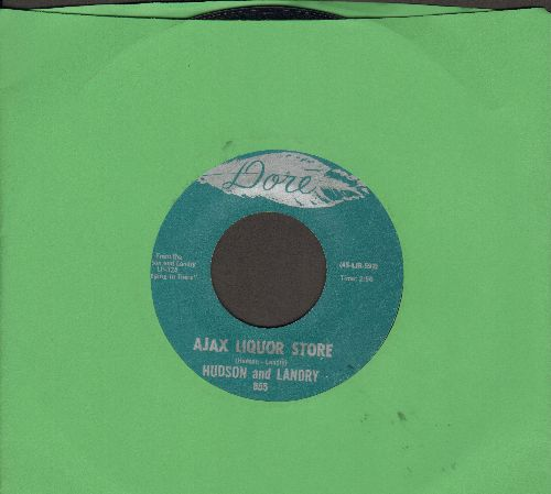 Hudson & Landry - Ajax Liquor Store/The Hippie & The Redneck  - M10/ - 45 rpm Records