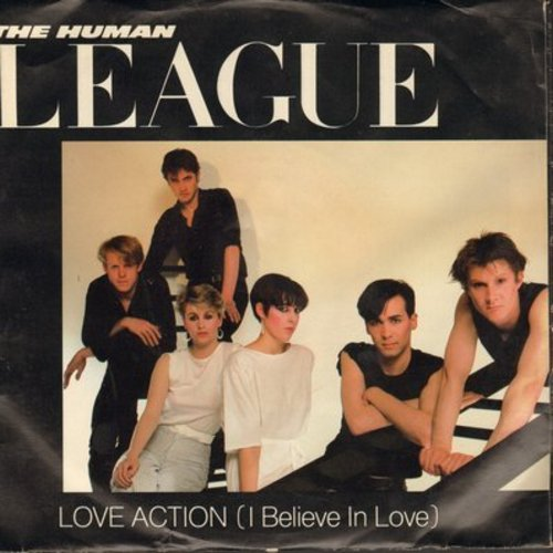 Human League - Love Action (I Believe In Love)/Hard Times (with picture sleeve) - NM9/EX8 - 45 rpm Records