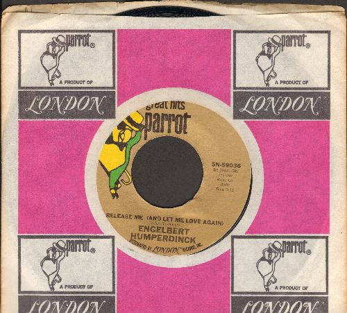 Humperdinck, Engelbert - Release Me/There Goes My Everything (early double-hit re-issue with company sleeve) - EX8/ - 45 rpm Records