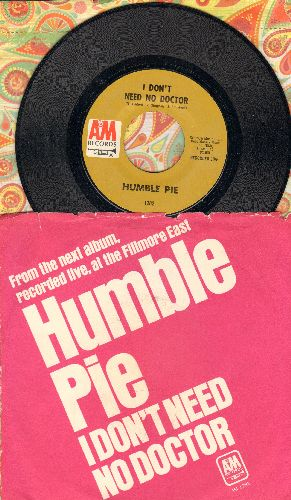 Humble Pie - Black Coffee/Say No More (with A&M company sleeve) - NM9/EX8 - 45 rpm Records