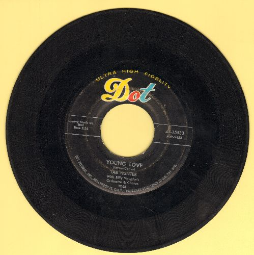 Hunter, Tab - Young Love/Red Sails In The Sunset  - VG7/ - 45 rpm Records