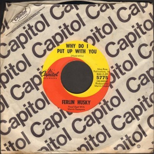 Husky, Ferlin - Why Do I Put Up With You/Once (with Capitol company sleeve) - NM9/ - 45 rpm Records