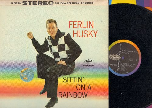 Husky, Ferlin - Sittin' On A Rainbow: Blue Skies, Ain't She Sweet, When My Sugar Walks Down The Street (, vinl LP record, RARE STEREO pressing) - NM9/VG7 - LP Records