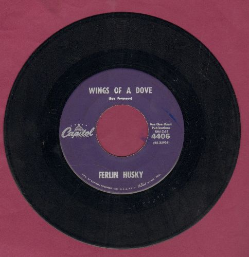 Husky, Ferlin - Wings Of A Dove/Next To Jimmy (with juke box label) - EX8/ - 45 rpm Records