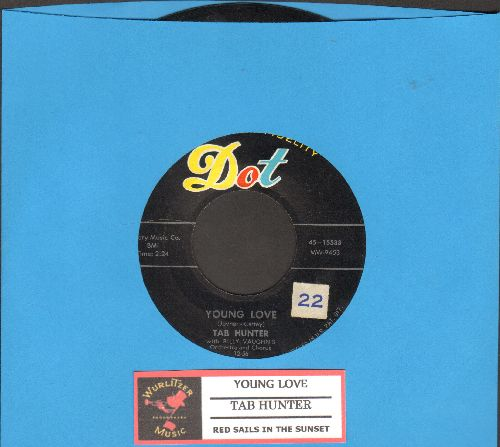 Hunter, Tab - Young Love/Red Sails In The Sunset  - EX8/ - 45 rpm Records