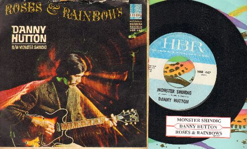 Hutton, Danny - Monster Shindig/Roses And Rainbows (RARE HALLOWEEN NOVELTY!) (with picture sleeve and juke box label) - NM9/VG7 - 45 rpm Records