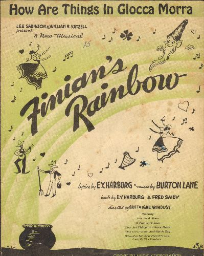 How Are Things In Glocca Morra - How Are Things In Glocca Morra - Vintage SHEET MUSIC for the song featured in Broadway Musical -Finnean's Rainbow- - VG6/ - Sheet Music