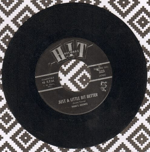 Hank's Hounds - Just A Little Bit Better/Catch Us If You Can (by The Jalopy Five on flip-side) (contemporary cover versions of hits) - EX8/ - 45 rpm Records